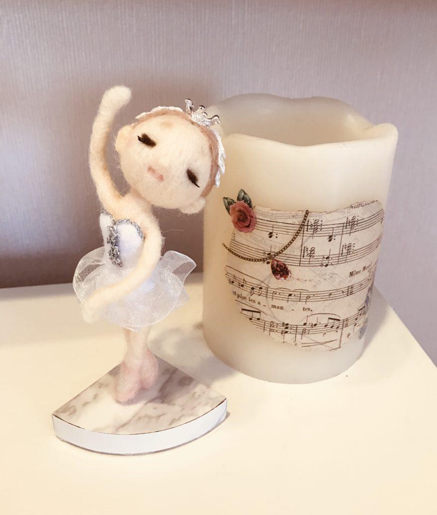 羊毛フェルト バレエ 白鳥の湖 プレゼント