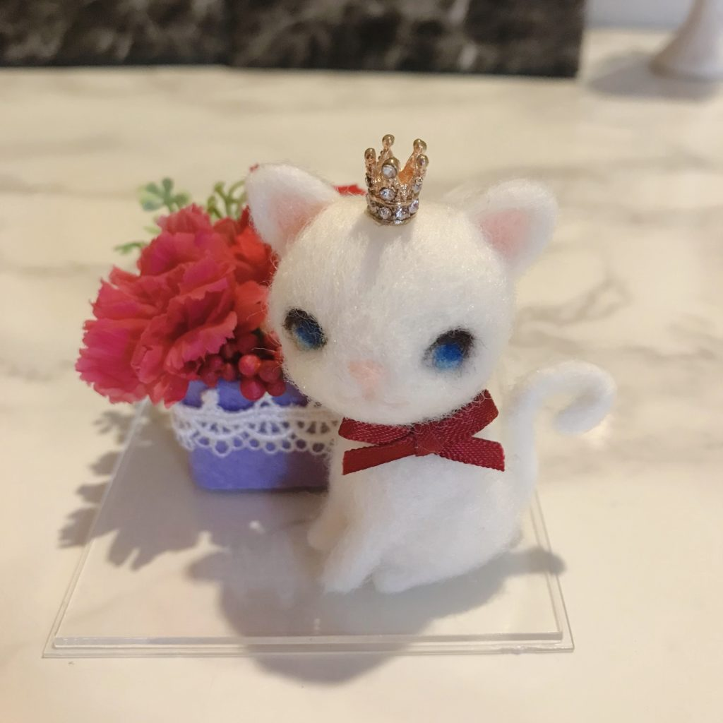 羊毛フェルト 猫 プレゼント 母の日