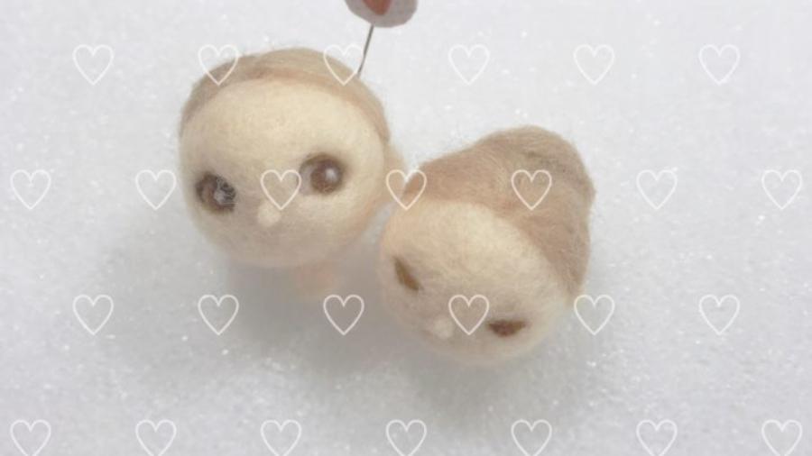 バレリーナ 羊毛フェルト