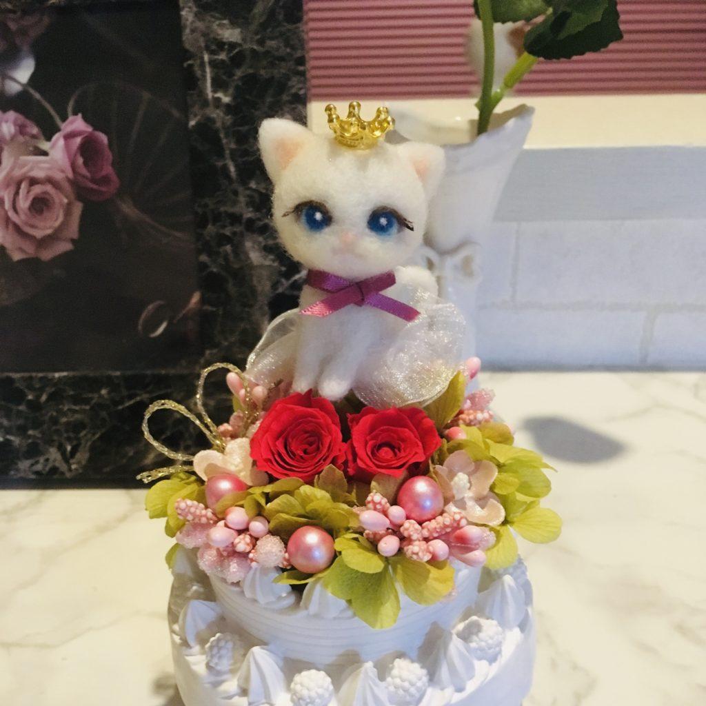 羊毛フェルト 猫バレリーナ